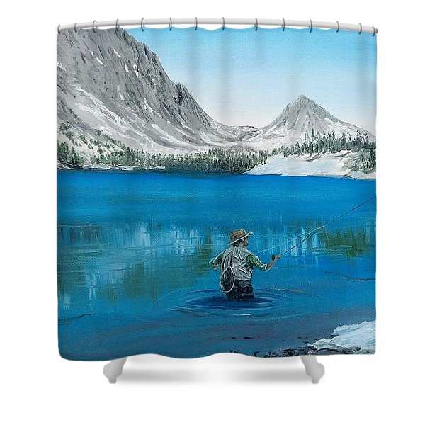 Shower Curtain featuring the painting Relaxing At Skelton by Kevin Daly