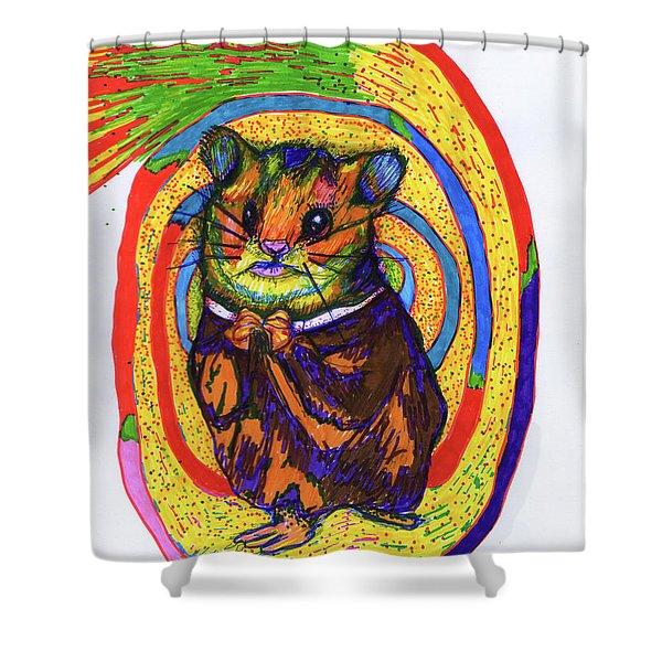 Religious Hamster Shower Curtain