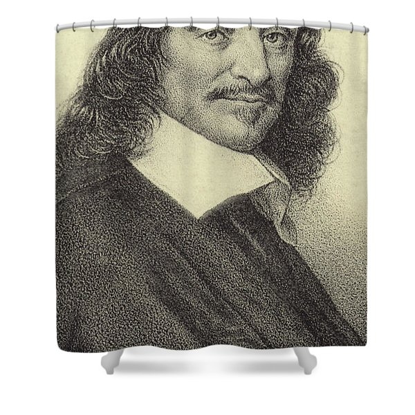 Rene Descartes, French Philosopher, Mathematician And Writer Shower Curtain