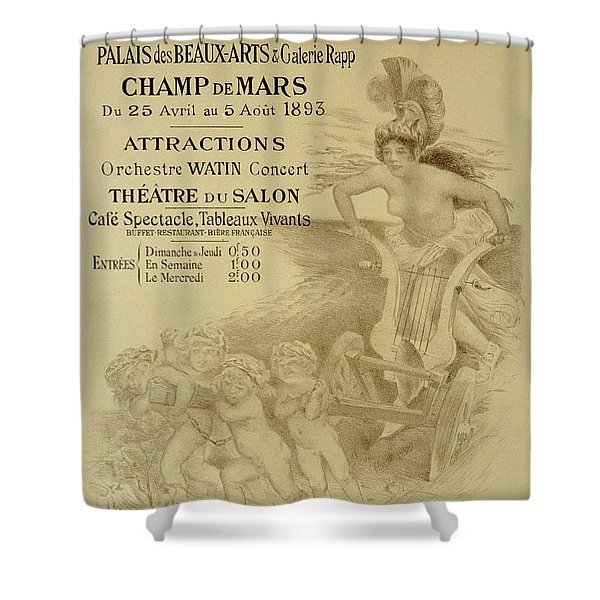 Reproduction Of A Poster Advertising An International Exhibition Of Commercial And Industrial Produ Shower Curtain