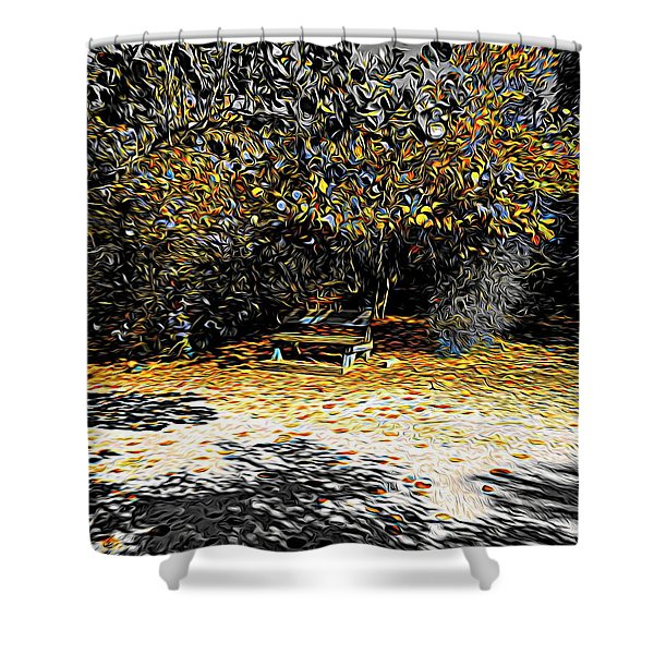Resting Reflections Shower Curtain