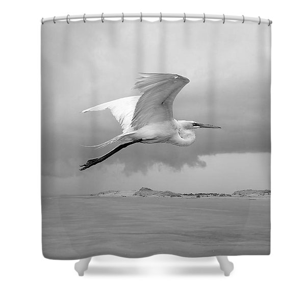 Retreat From Coming Storm Shower Curtain