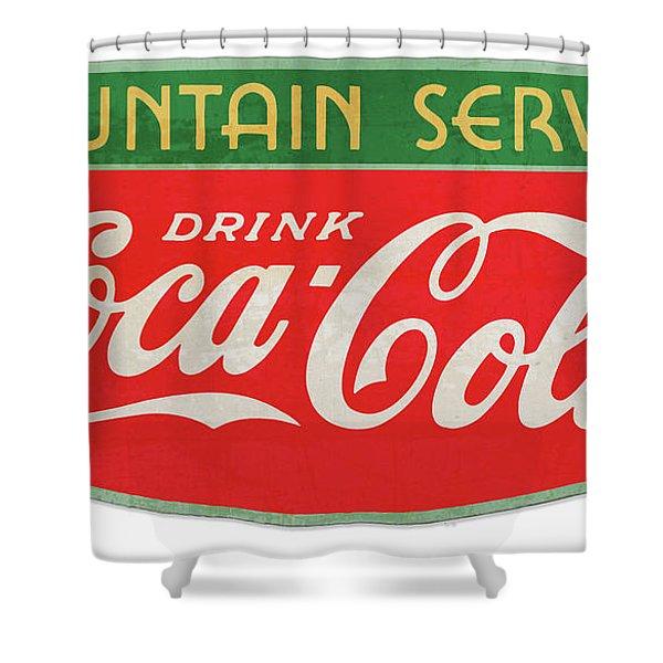 Retro Coke Sign Shower Curtain