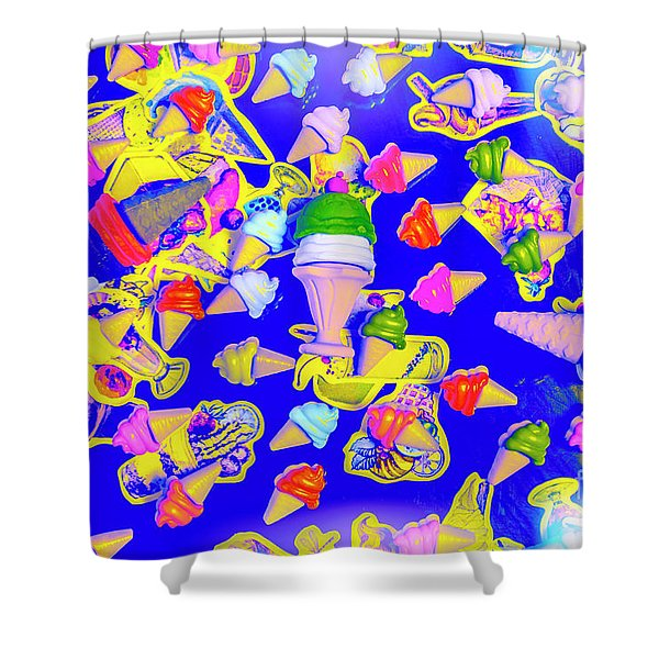 Retro Flavours Shower Curtain