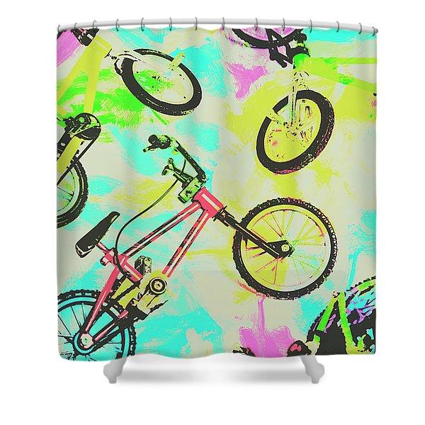 Retro Rides Shower Curtain