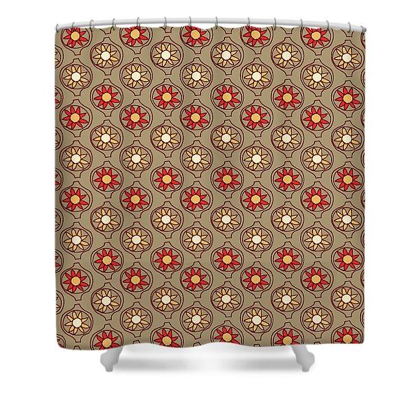 Retro Sunshine Pattern Shower Curtain