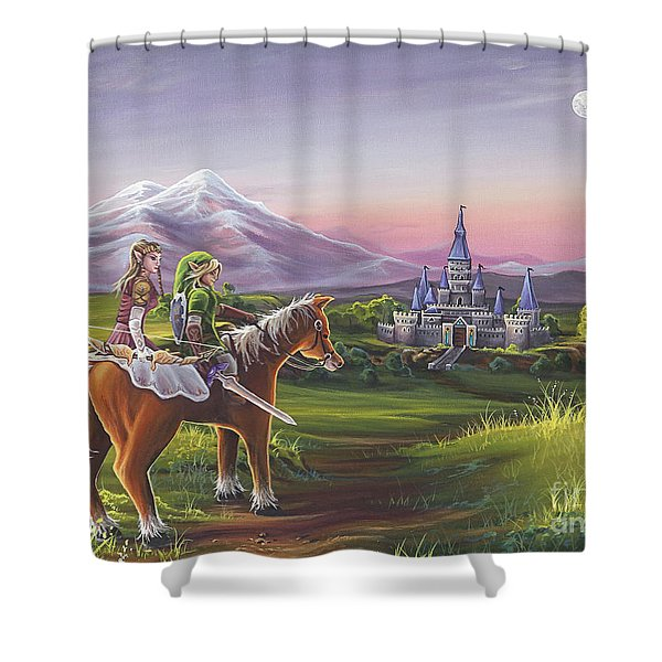 Returning Home Shower Curtain