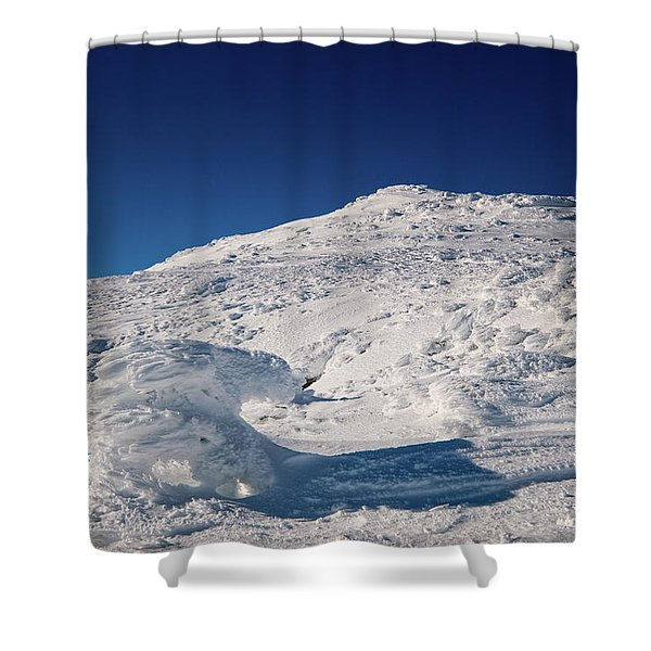 Shower Curtain featuring the photograph Rime And Snow, And Mountain Trolls. by Jeff Sinon