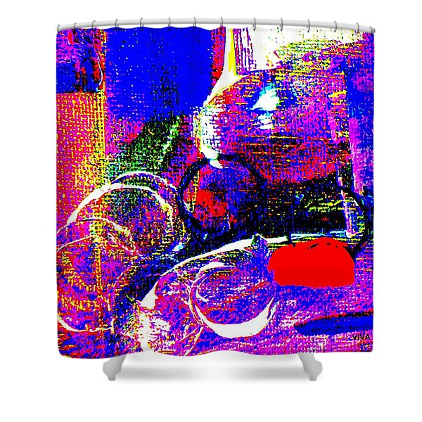 Riot Of Color -  Texture  Abstract Shower Curtain