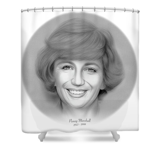 Rip Penny Marshall Shower Curtain