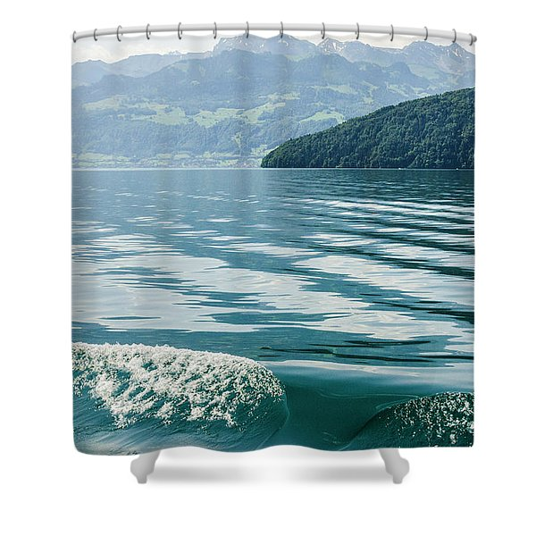 Ripples On Lake Lucerne Shower Curtain