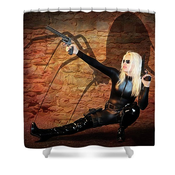 Rise Of The Black Widow Shower Curtain