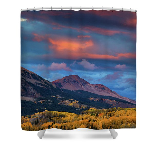 Shower Curtain featuring the photograph Rising Color  by John De Bord