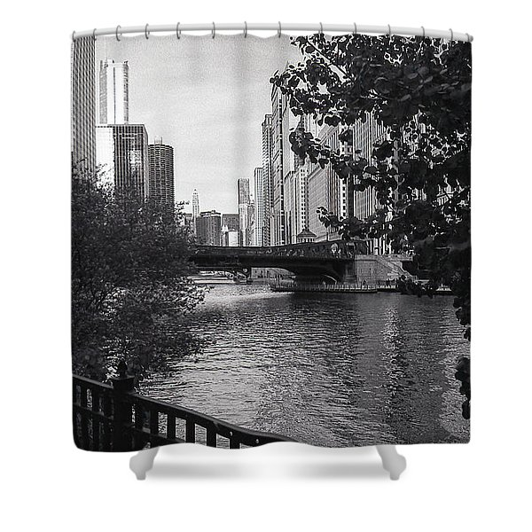River Fence Shower Curtain