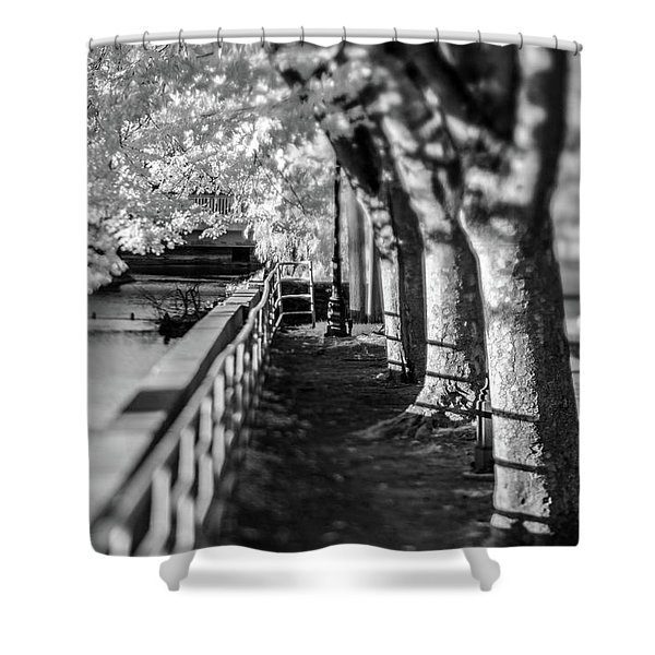 River Lines Shower Curtain