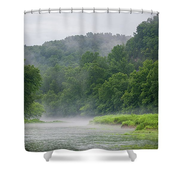 River Mist Shower Curtain