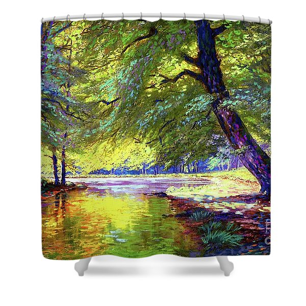 River Of Gold Shower Curtain