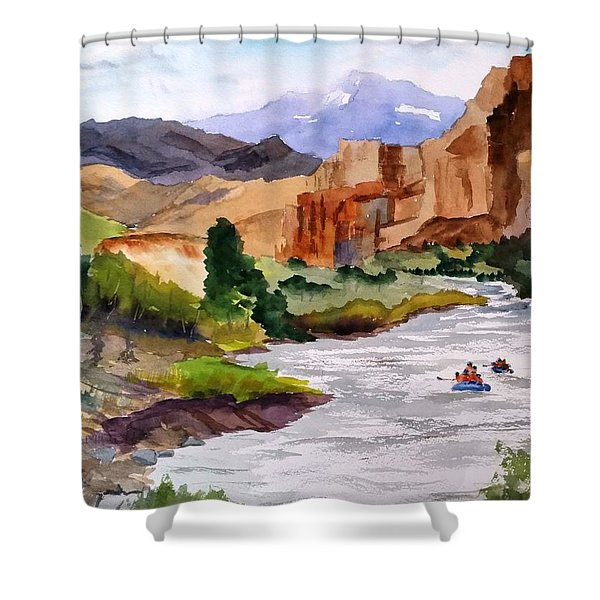 River Rafting In Montana Shower Curtain
