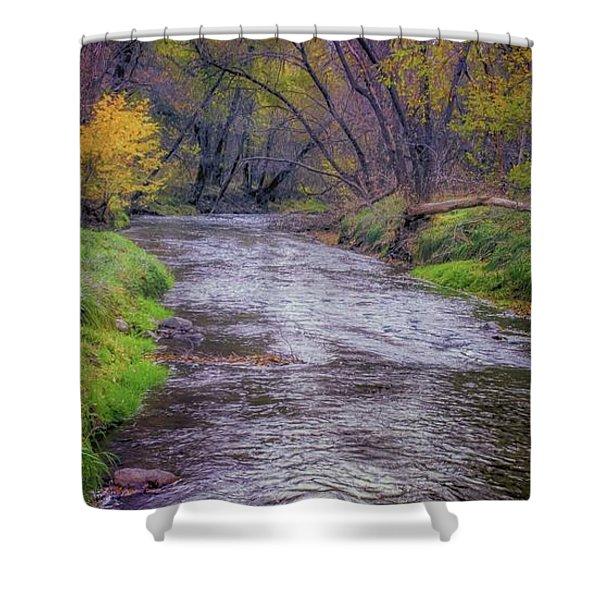 River Running Through Shower Curtain