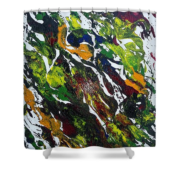 Rivers And Valleys Shower Curtain