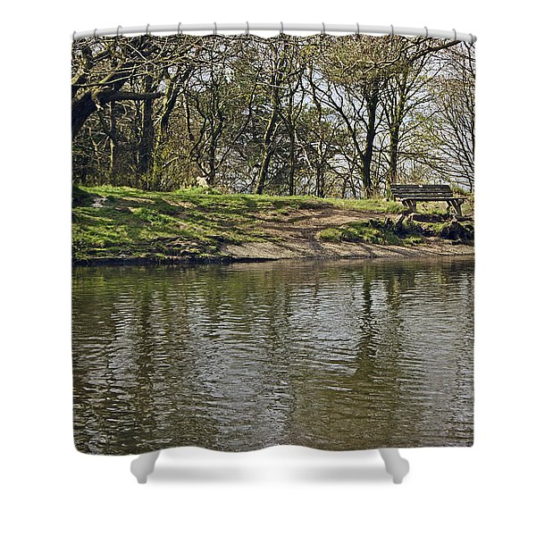 Rivington  Japanese Pool Bench. Shower Curtain
