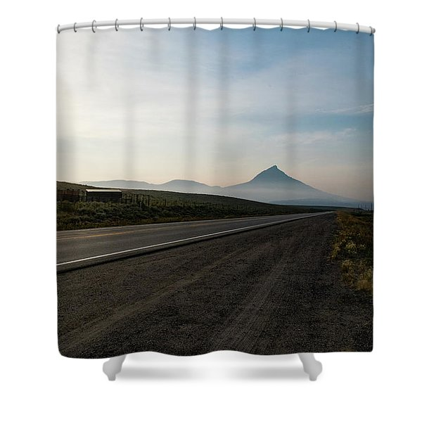 Road Through The Rockies Shower Curtain