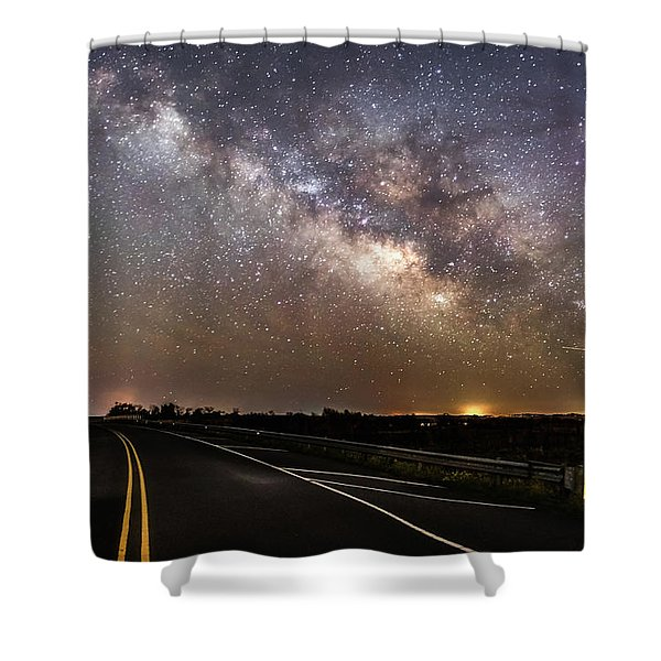 Road To Milky Way Shower Curtain
