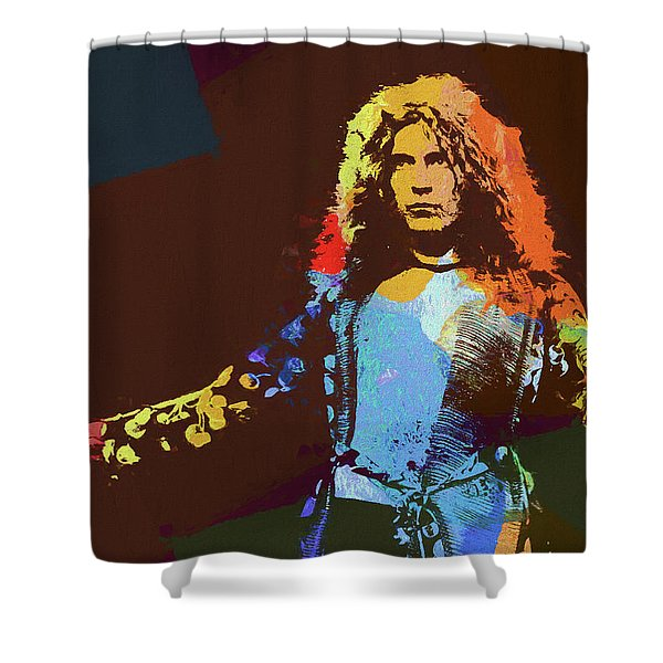 Robert Plant Tribute Shower Curtain