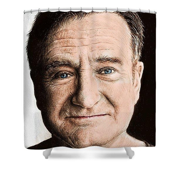 Robin Williams Colour Ver 2 Shower Curtain