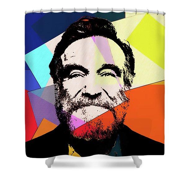 Robin Williams Pop Art Shower Curtain