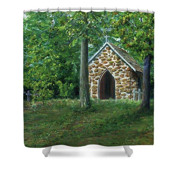 Rock Chapel Near Mansfield, Louisiana Shower Curtain