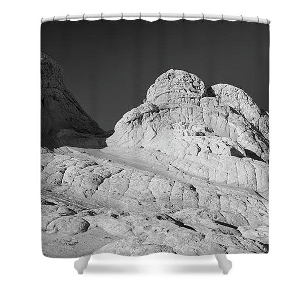 Rock Detail At White Pocket, Paria Shower Curtain