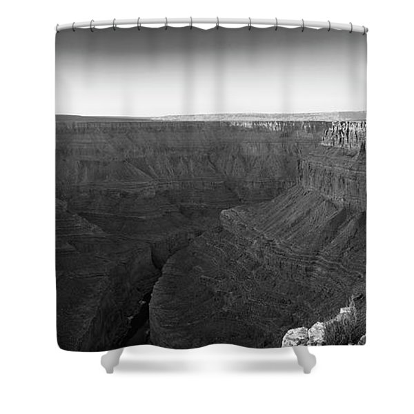 Rock Formations On The Edge Shower Curtain