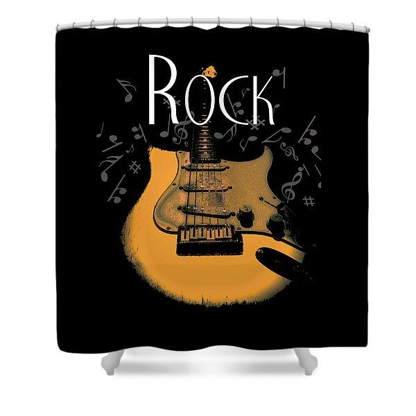 Rock Guitar Music Notes Shower Curtain