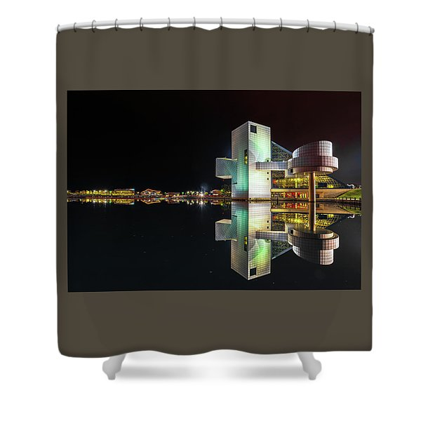 Rock Hall Reflections  Shower Curtain