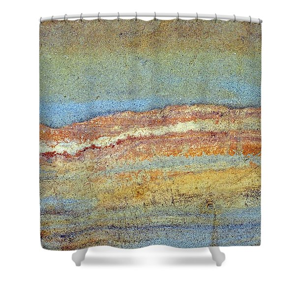 Rock Stain Abstract 3 Shower Curtain