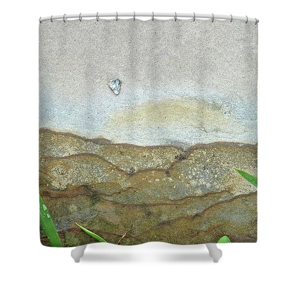 Rock Stain Abstract 5 Shower Curtain