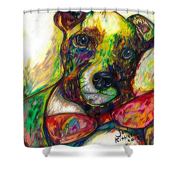 Rocket The Dog Shower Curtain