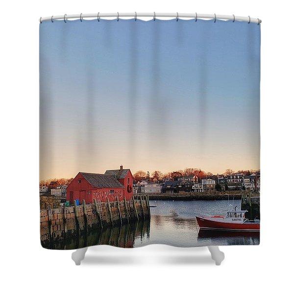 Rockport Massachusetts  Shower Curtain