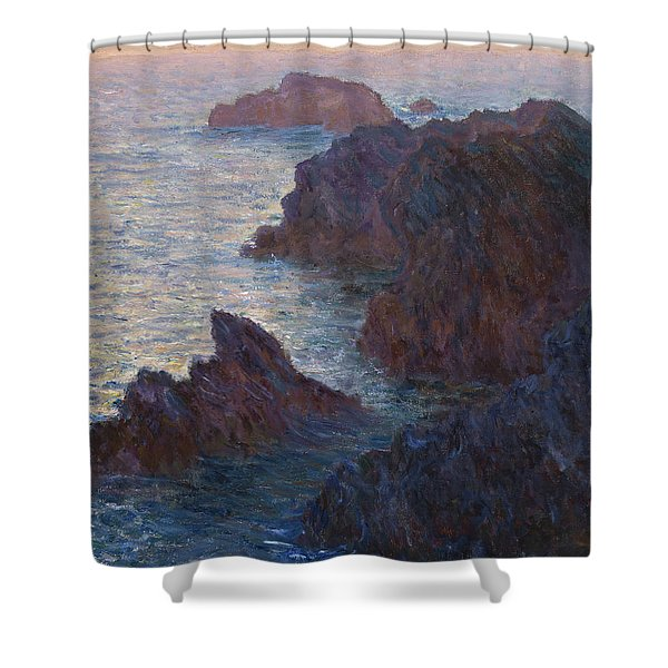 Rocks At Belle-lle, Port-domois, 1886 Shower Curtain