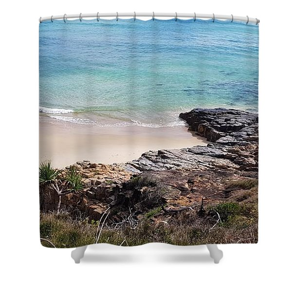 Rocks Sand And Water  Shower Curtain