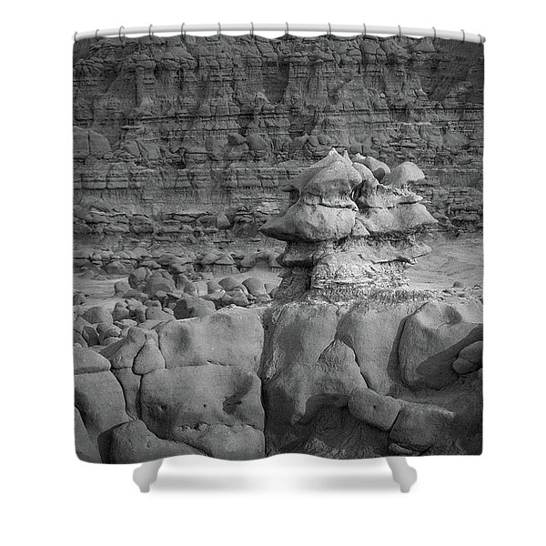 Rocky Desert Formation Shower Curtain