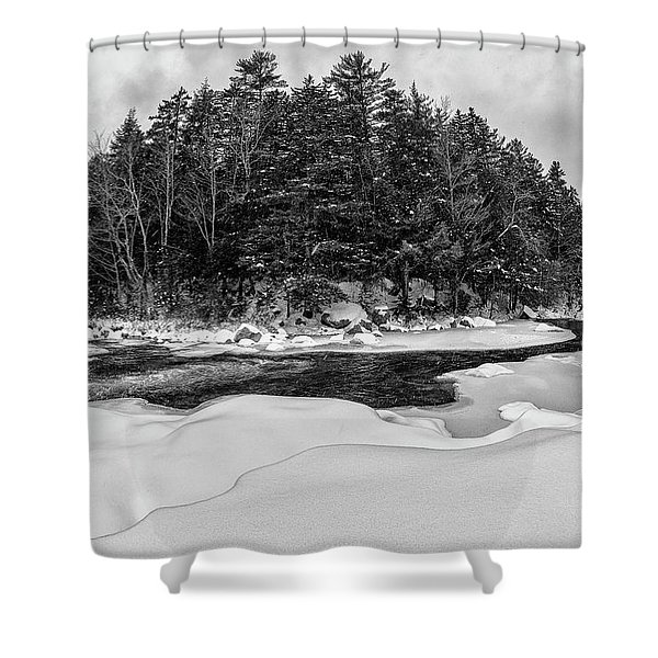 Rocky Gorge N H, River Bend 1 Shower Curtain