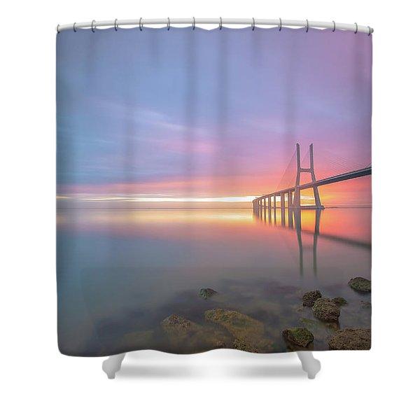 Rocky Lisbon Shower Curtain