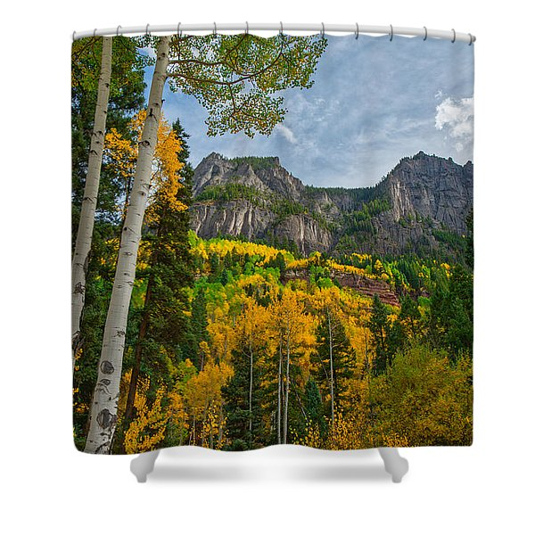 Shower Curtain featuring the photograph Rocky Mountain High by Tom Gresham