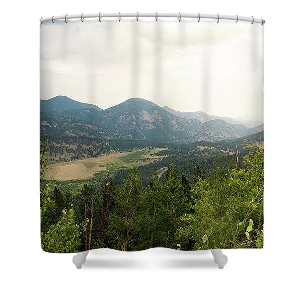 Rocky Mountain Overlook Shower Curtain