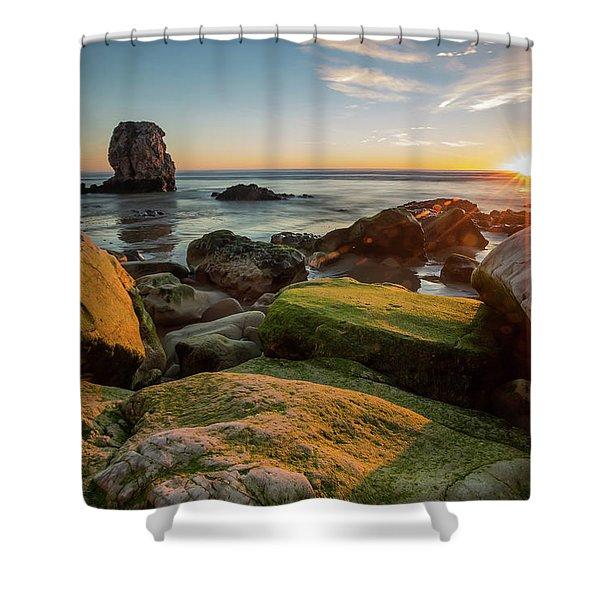 Rocky Pismo Sunset Shower Curtain