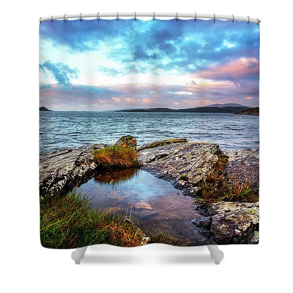 Rocky Pools Of Salty Sea Shower Curtain