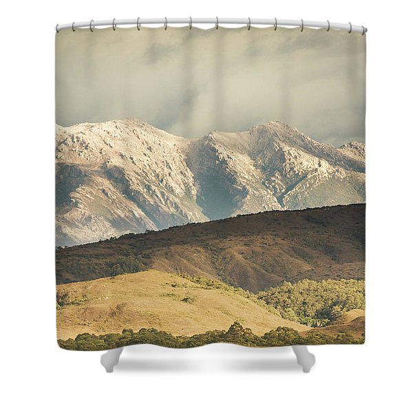 Rocky Rural Region Shower Curtain