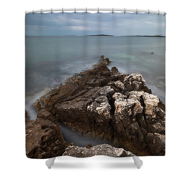 Rocky Triangle Shower Curtain
